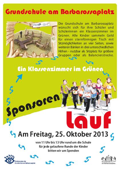 Plakat Sponsorenlauf